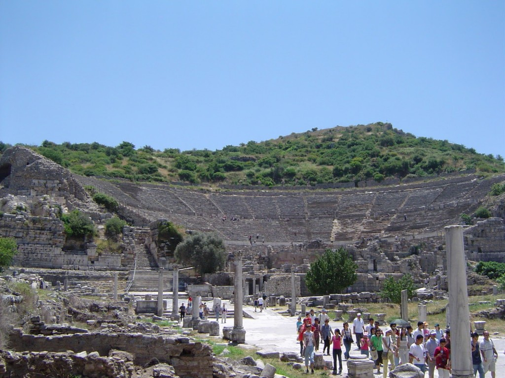 The Great Theatre (This was where the people of Ephesus chanted 'Artemis of the Ephesians'.)